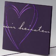 violette & lila Hochzeitskarten